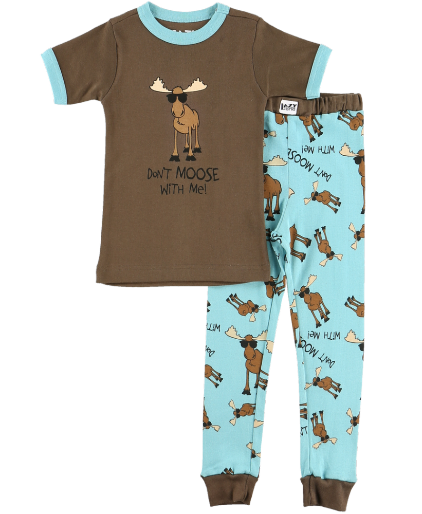 Don't Moose With Me - Kids Short Sleeve PJ Set - Lazy One® | Boys Pyjamas